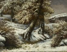 Деревья в снегу - Курбе, Гюстав