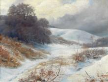 Зимний пейзаж - Бауэр, Густаф