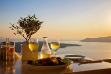 Ужин на закате - Сток