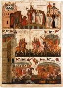 Битва новгородцев против суздальцев (чудо от иконы Б.М. Знамение) (середина XV века)