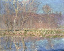 Весна в Живерни. Деревья вдоль реки - Моне, Клод