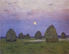 Сумерки. Стога. 1899 - Левитан, Исаак Ильич