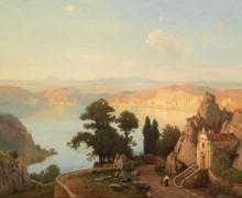Пейзаж в Лаго ди Немо близ Рима - Родде, Карл Густаф