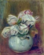 Белые розы - Ренуар, Пьер Огюст