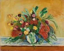 Букет цветов в белой вазе - Матисс, Анри