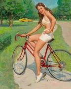 Девушка на велосипеде - Элвгрен, Джил