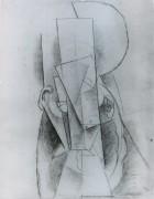 Голова мужчины, 1913 - Пикассо, Пабло
