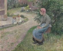 Служанка в саду в Эраньи - Писсарро, Камиль