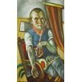 Автопортрет в образе клоуна - Бекман, Макс