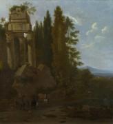 Пейзаж с руинами - Мушерон, Фредерик