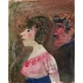 Женщина с сеткой для волос, мужчина с кепкой - Дикс, Отто
