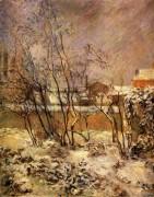 Снег на  улице  Каркель, 1882 - Гоген, Поль