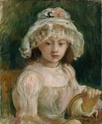 Девочка в шляпке - Моризо, Берта