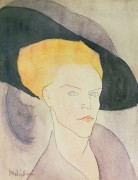 Женщина в шляпе - Модильяни, Амадео
