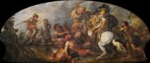 Александр Великий в охоте на львов - Лафосс, Шарль де