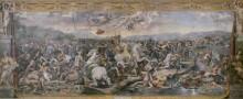 Зал Константина: Битва у Мульвийского моста - Рафаэль, Санти