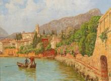 Пейзаж на озере Гарда - Зимони, Штефан