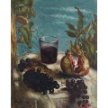 Натюрморт с бокалом вина - Кирико, Джорджо де