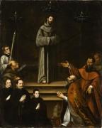 Явление святого Франциска Ассизского папе Николаю V - Монтуфар, Антонио