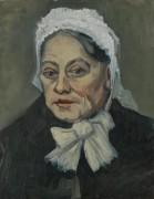 Голова пожилой женщины в белом чепце (Head of an Old Woman in a White Cap), 1885 b - Гог, Винсент ван