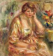 Андре в розовом платье, 1917 - Ренуар, Пьер Огюст