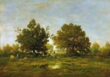 Пейзаж с деревянным мостиком - Руссо, Теодор