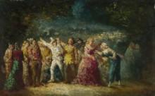 Факельное шествие - Монтичелли, Адольф