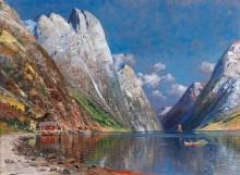 Пейзаж с фьордом - Холмштедт, Йохан