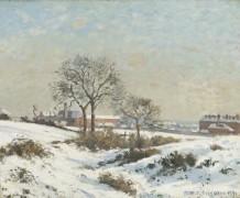 Зимний пейзаж в Южном Норвуде - Писсарро, Камиль
