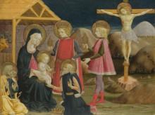 Поклонение королей, и Христос на кресте - Бонфигли, Бенедетто