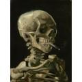 Череп с зажженной сигаретой (Skull with Burning Cigarette), 1885 - Гог, Винсент ван