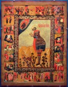 Святой Мина Котуанский с житием, 17 век, 121х95cм