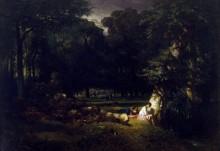 Купальщицы в лесу - Труайон, Констан