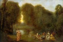 Общество в парке - Ватто, Жан Антуан