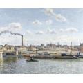 Мост Буальдье и  станция Орлеан, Руан,  солнечный день, 1898 - Писсарро, Камиль