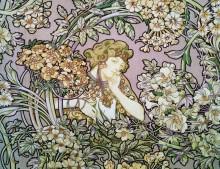 Женщина среди цветов - Муха, Альфонс