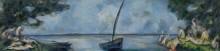Купальщики и лодка - Сезанн, Поль
