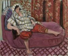 Дама на розовом диване - Матисс, Анри