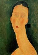 Портрет женщины (Луня) - Модильяни, Амадео