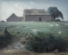 Маленькая пастушка гусей - Милле, Жан-Франсуа