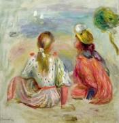 Девушки на пляже - Ренуар, Пьер Огюст