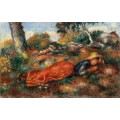 Девушка, лежащая на траве - Ренуар, Пьер Огюст