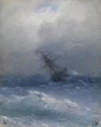 Корабль, попавший в шторм - Айвазовский, Иван Константинович