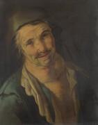 Голова мужчины в голубом