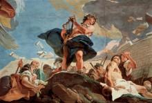 Амфион, укрепляющий стены Фив игрой на лире - Тьеполо, Джованни Баттиста