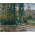 Пейзаж в Понтуазе с охотником, 1879 - Писсарро, Камиль