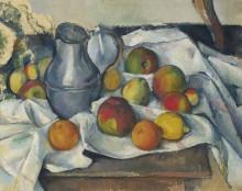 Чайник и фрукты - Сезанн, Поль
