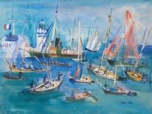 Рыбацкие лодки в бухте - Дюфи, Жан