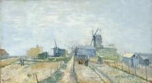 Мельницы и огороды на Монмартре - Гог, Винсент ван