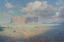 Пейзаж  Аризоны с двумя всадниками, 1911 - Ли, Уильям Робинзон